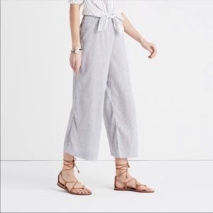 Lightweight Cotton wide leg crop pants madewell
